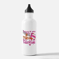 2 much Volleyball Water Bottle