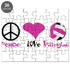 Peace Love Volleyball Puzzle
