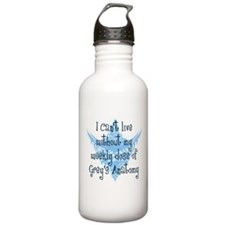 Can't Live Without Grey's Stainless Water Bottle 1