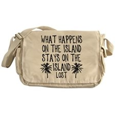 What Happens on the Island Messenger Bag