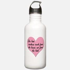 Teacher heart Water Bottle