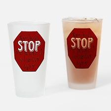 Stop Volunteer Drinking Glass