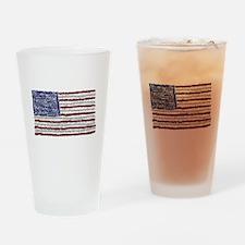 Glitter Flag Drinking Glass