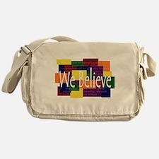 We Believe Brights Messenger Bag