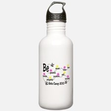 9 B's with flowers Water Bottle