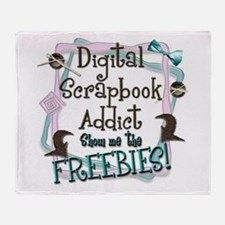 Digital Scrapbook Addict Throw Blanket