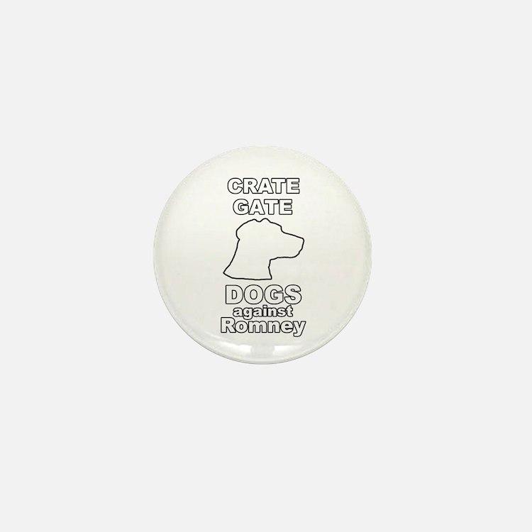 Dogs Against Mitt Romney Crate Gate Mini Button