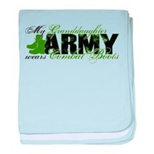 Granddaughter Combat Boots - ARMY baby blanket