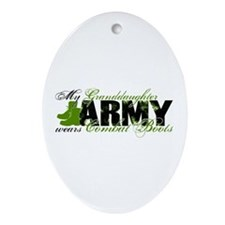 Granddaughter Combat Boots - ARMY Ornament (Oval)