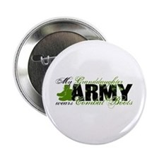 "Granddaughter Combat Boots - ARMY 2.25"" Button"