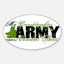 Granddaughter Combat Boots - ARMY Sticker (Oval)