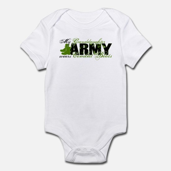 Granddaughter Combat Boots - ARMY Infant Bodysuit