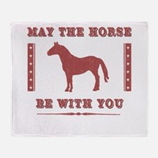 Horse Force Throw Blanket