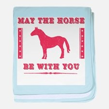 Horse Force baby blanket