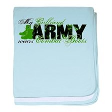 Girlfriend Combat Boots - ARMY baby blanket
