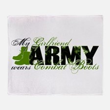 Girlfriend Combat Boots - ARMY Throw Blanket