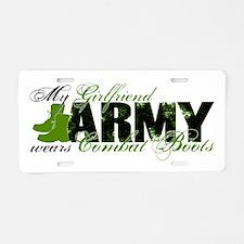 Girlfriend Combat Boots - ARMY Aluminum License Pl
