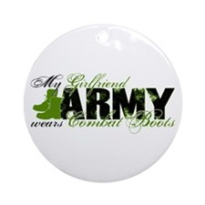 Girlfriend Combat Boots - ARMY Ornament (Round)