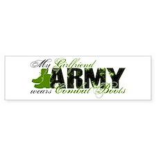 Girlfriend Combat Boots - ARMY Bumper Sticker