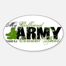 Girlfriend Combat Boots - ARMY Sticker (Oval)