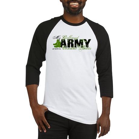 Girlfriend Combat Boots - ARMY Baseball Jersey