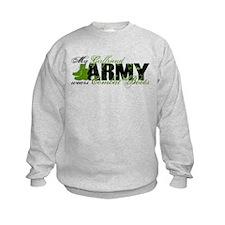 Girlfriend Combat Boots - ARMY Sweatshirt