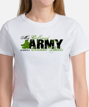 Girlfriend Combat Boots - ARMY Women's T-Shirt
