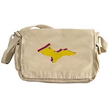 Retro U.P. Rainbow Yooper Messenger Bag