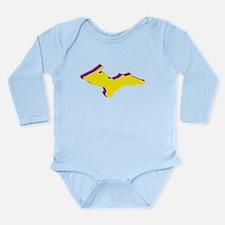 Retro U.P. Rainbow Yooper Long Sleeve Infant Bodys