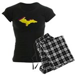 Retro U.P. Rainbow Yooper Women's Dark Pajamas