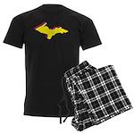 Retro U.P. Rainbow Yooper Men's Dark Pajamas