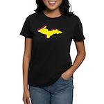 Retro U.P. Rainbow Yooper Women's Dark T-Shirt