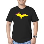 Retro U.P. Rainbow Yooper Men's Fitted T-Shirt (da