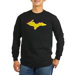 Retro U.P. Rainbow Yooper Long Sleeve Dark T-Shirt