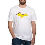 Retro U.P. Rainbow Yooper Fitted T-Shirt