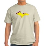Retro U.P. Rainbow Yooper Light T-Shirt