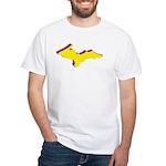 Retro U.P. Rainbow Yooper White T-Shirt