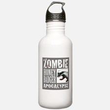 Zombie Honey Badger Water Bottle