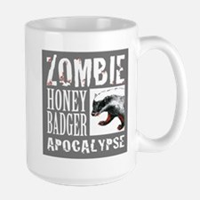 Zombie Honey Badger Large Mug