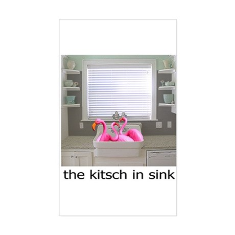 The Kitsch in Sink Sticker (Rectangle)