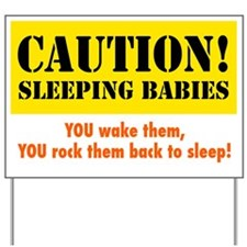 Sleeping Babies Yard Sign
