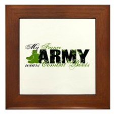 Fiance Combat Boots - ARMY Framed Tile
