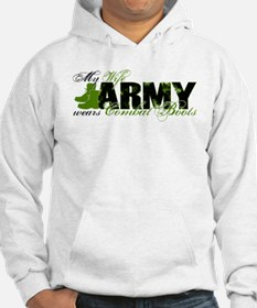 Wife Combat Boots - ARMY Hoodie