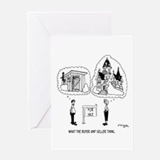 What The Buyer & Seller Think Greeting Card