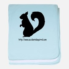 Squirrely URL Logo baby blanket