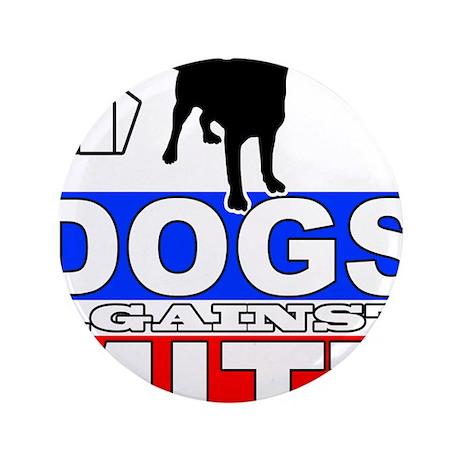 "Dogs Against Mitt Romney 2 3.5"" Button"