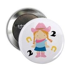 "2nd Birthday Cowgirl 2.25"" Button"