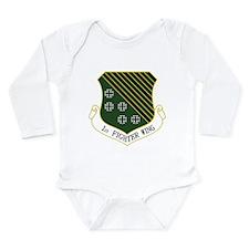 1st Fighter Wing Long Sleeve Infant Bodysuit