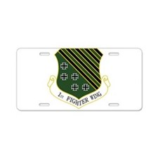 1st Fighter Wing Aluminum License Plate