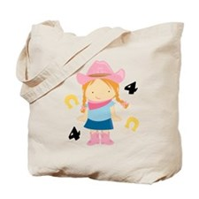4th Birthday Cowgirl Tote Bag